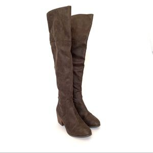 Report Shoes - REPORT Fisher OTK Boot 8 Brown Fold side zip Knee